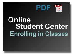 PDF Download Link - Online Student Center - Enrolling in  Classes