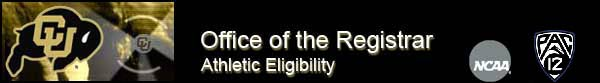 Office of the Registrar Athletic Eligibility